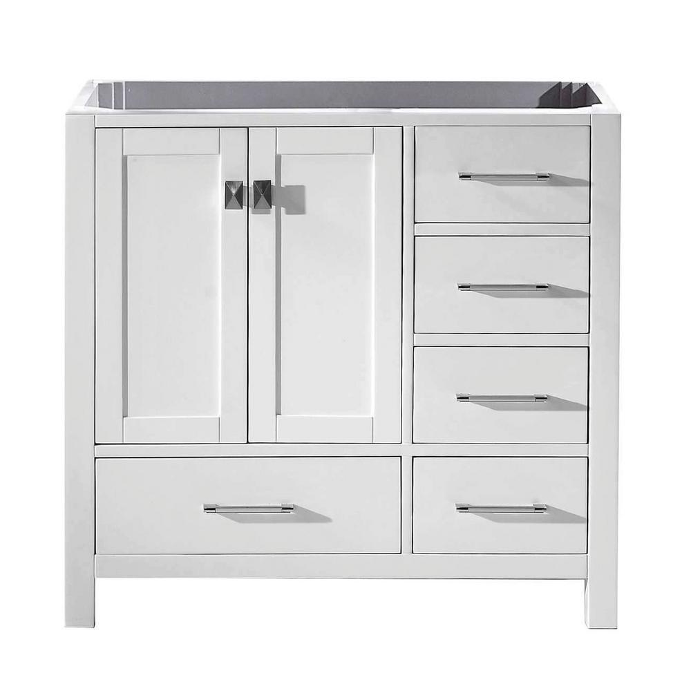 Virtu Usa Caroline Avenue 36 In W Bath Vanity Cabinet Only In