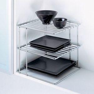 kitchen metal wire chrome corner shelf when purchasing extra storage rh pinterest com
