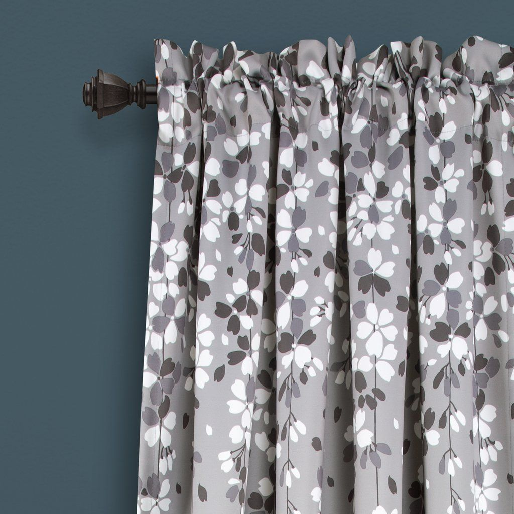 Weeping Flower Room Darkening Window Curtain Set With Images