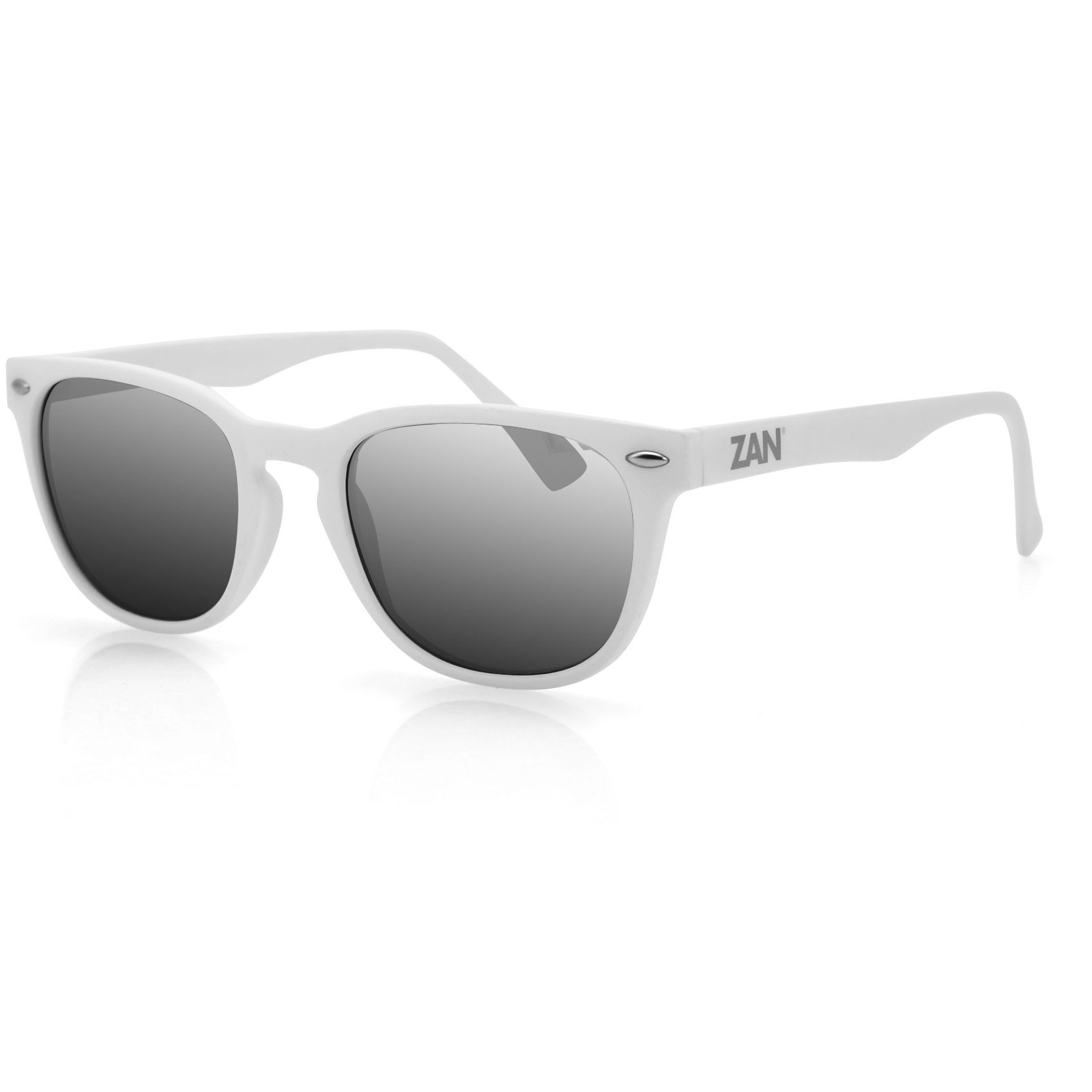 ZAN Throwback NVS Sunglasses Matte White Frame | Products ...