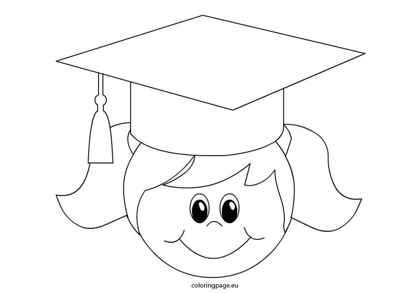 Graduation Girl Boyama Sayfalari Sanat Egitimi