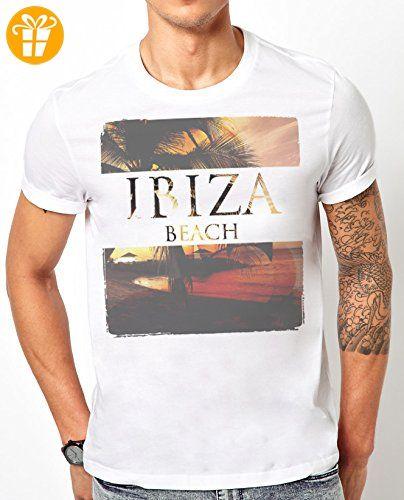 Weiß Ibiza Beach Herren T-Shirt - Herren-Geschenk, X-Large (*Partner-Link)