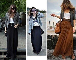 saias longas preta como usar - Pesquisa Google