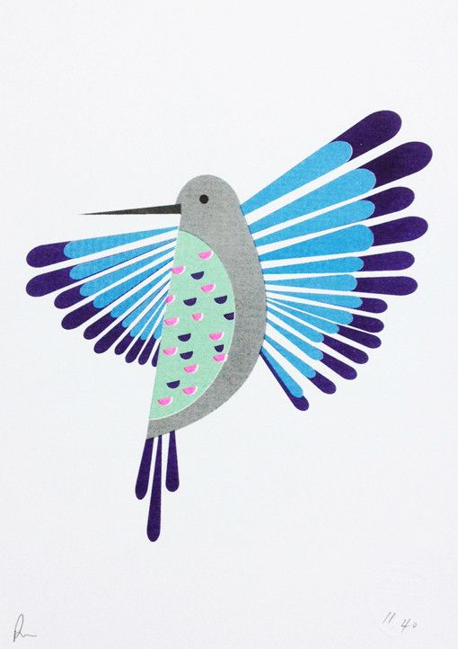 Gorgeous Hummingbird Print by Scout Editions