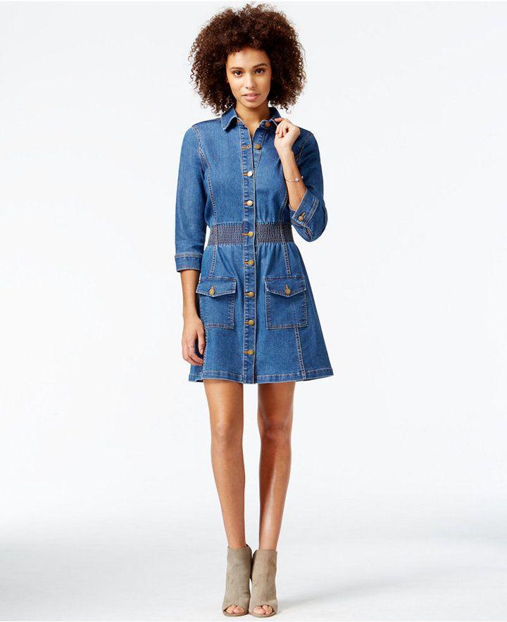 1465a356897 RACHEL Rachel Roy Denim A-Line Shirtdress