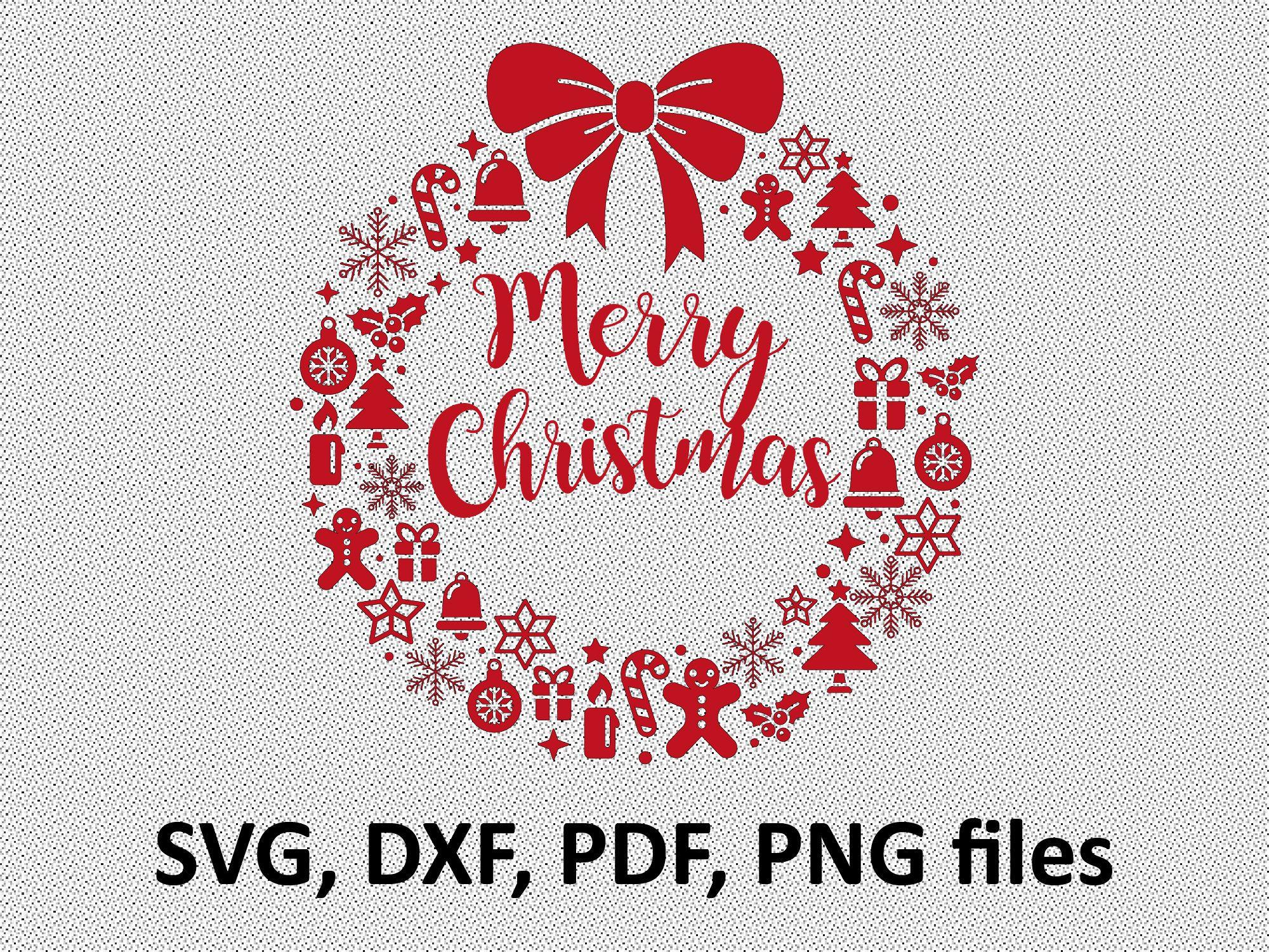 Christmas wreath SVG, Christmas svg, Christmas wreath clip