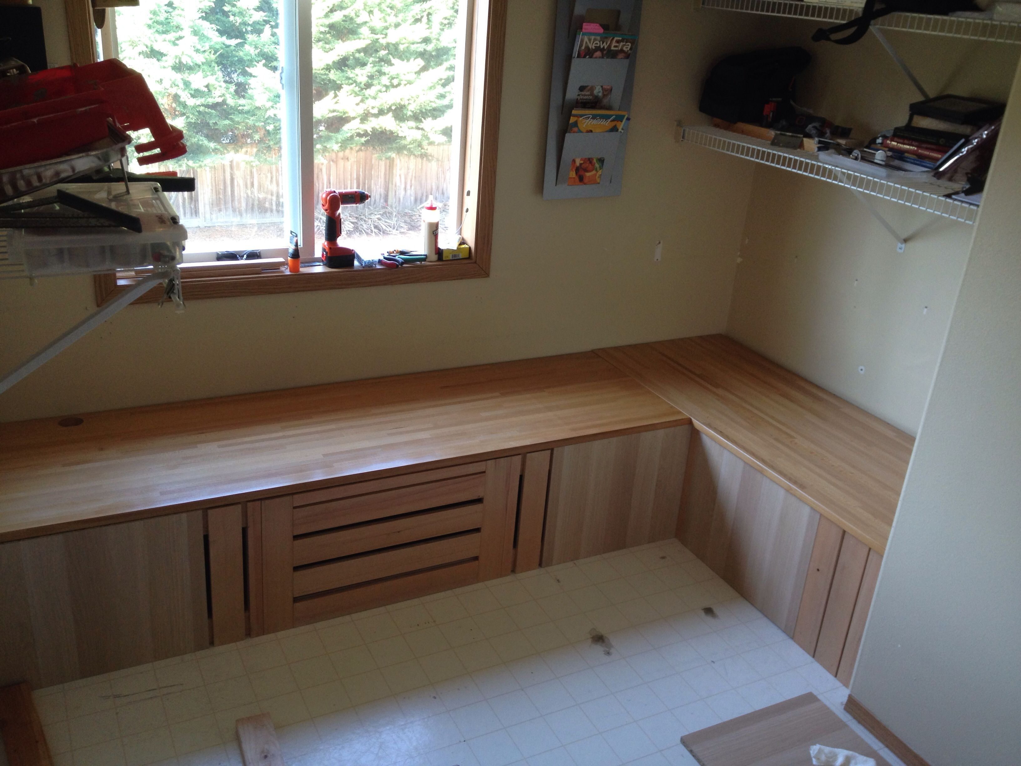 window bench seat diy will put hinges for storage underneath the