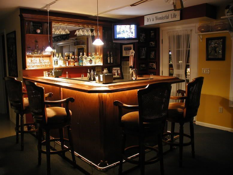 Beautiful Basement Bar Photos