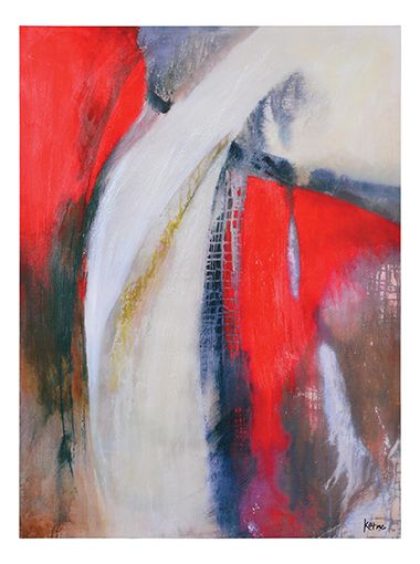 The bold strokes and high constrast colours of this hand painted canvas make it a stand-out addition to any space.
