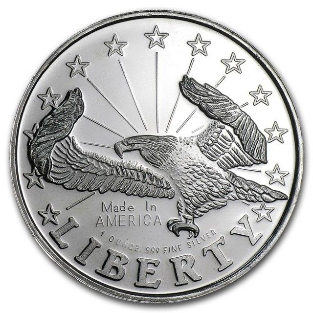 999 Fine Silver Round One Ounce Liberty Eagle Buy Silver Online Silver Coins Silver Bullion Coins