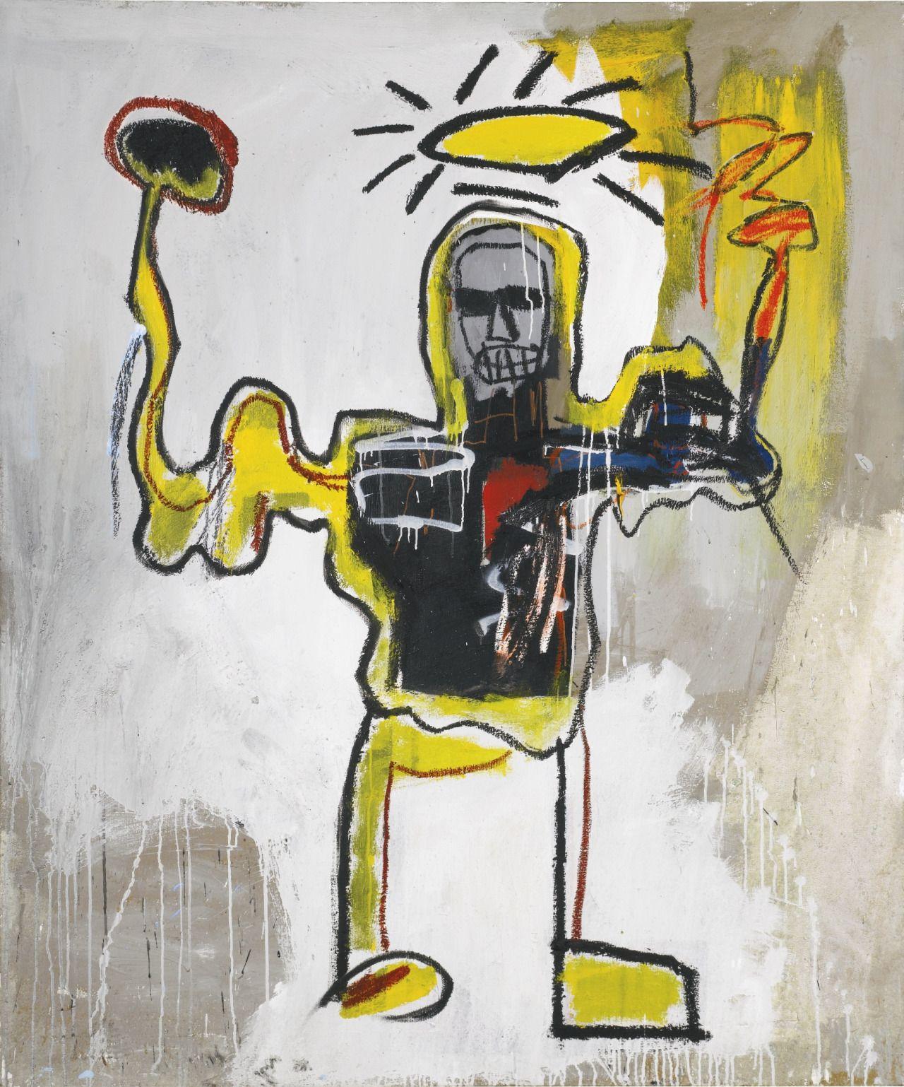 Jean-Michel Basquiat - Artist XXème - Underground Art - NeoExpressionism - Untitled (The Black Athlete), 1982.