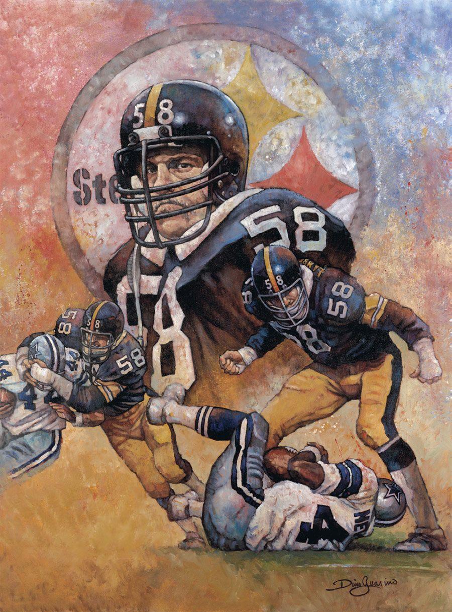 Jack Lambert, Steelers by Dino Guarino. | Pittsburgh Steelers ...