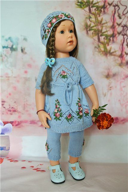 Вышивка девочка кукла