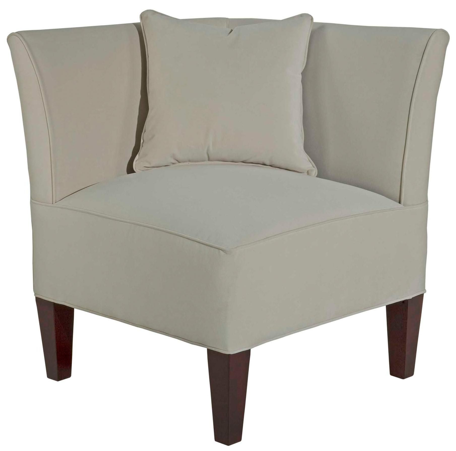 Caitlyn Left Facing Corner Chair with Track Arms by Broyhill
