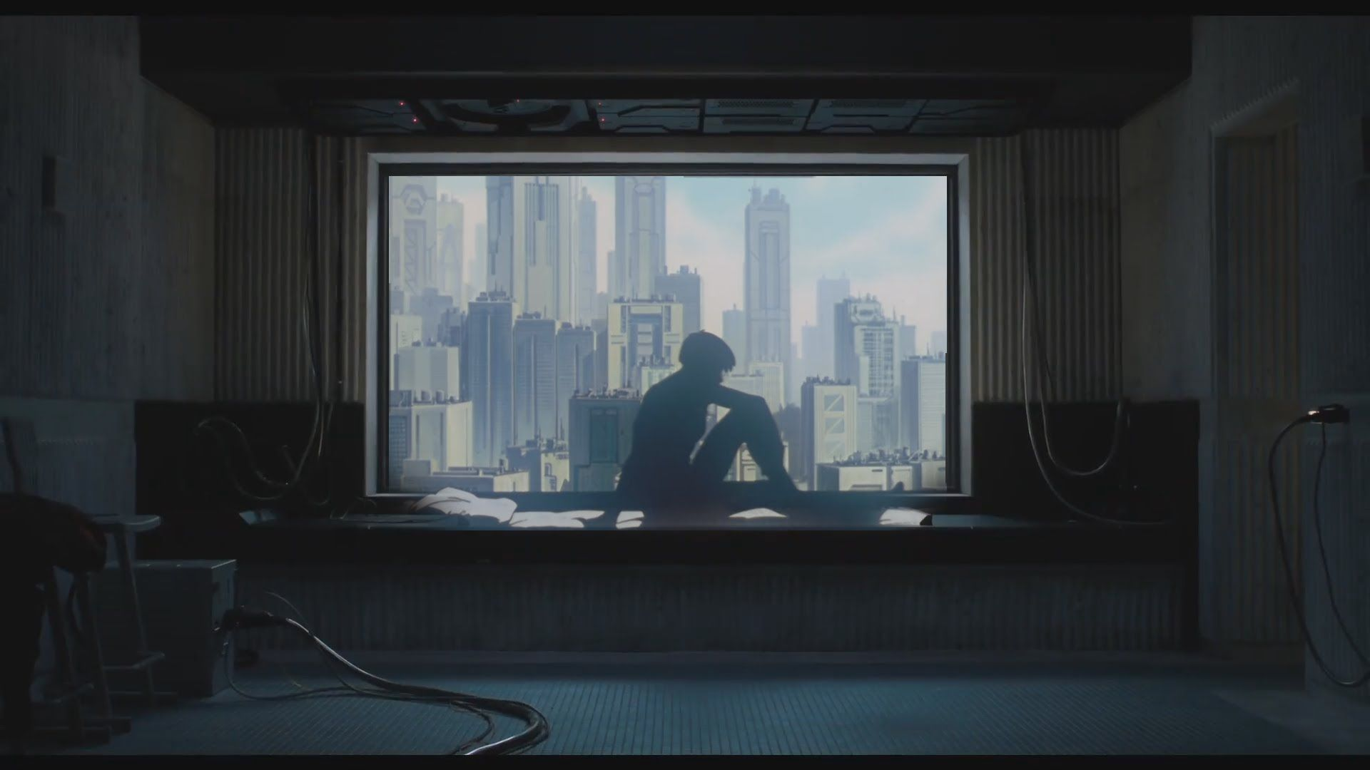 Ghost in the shell anime window scene crystals