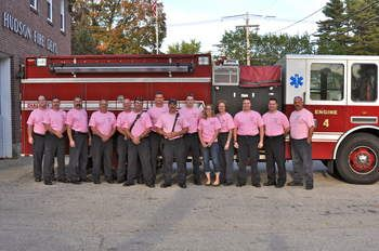 Hudson firefighters join movement to promote breast cancer awareness