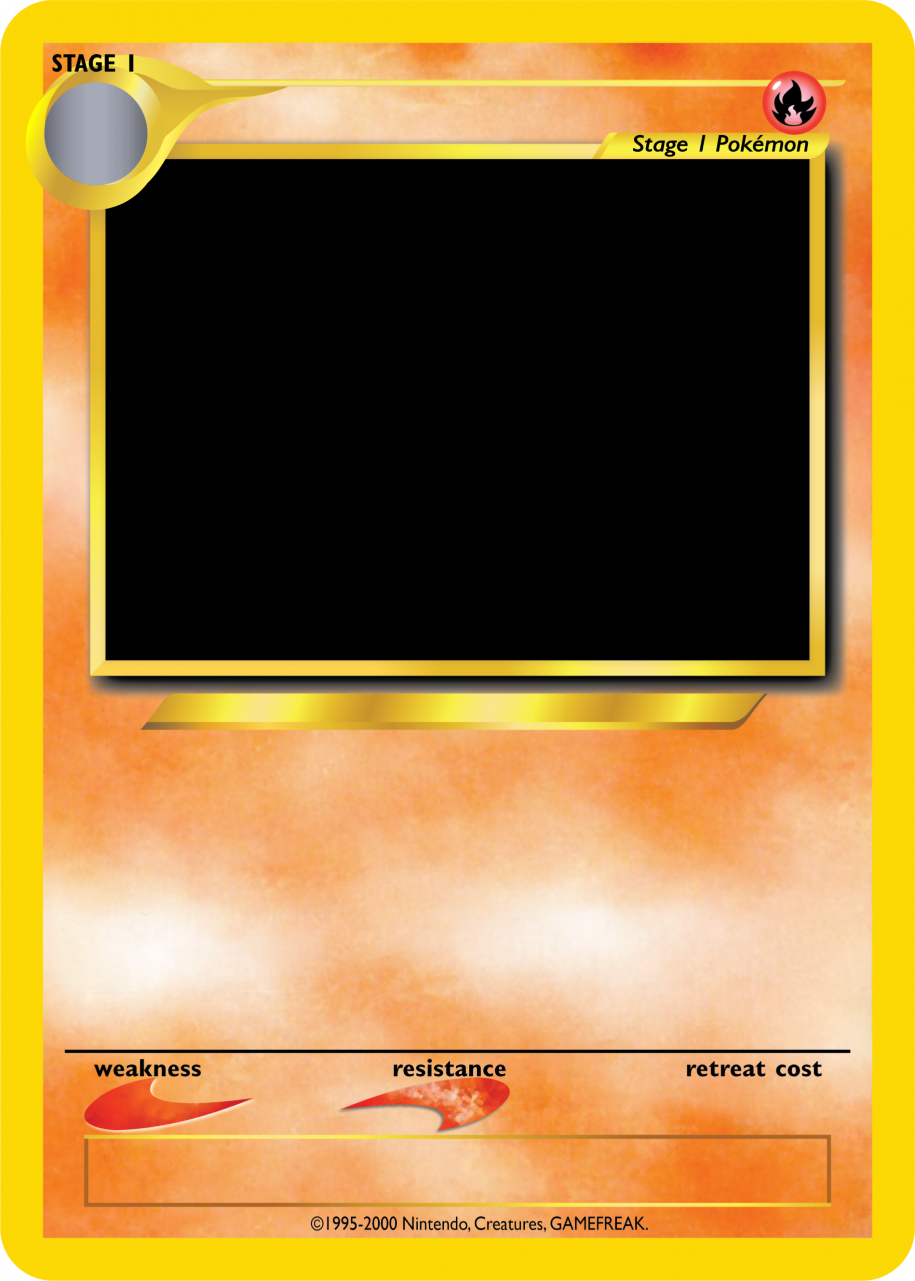 Blank Holo Pokemon Card Pokemon Card Template Magic The Gathering Cards Card Template
