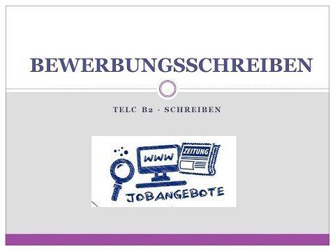 Telc B2 Bewerbungsschreiben Bewerbung Schreiben Bewerbungsschreiben Deutsch Lernen