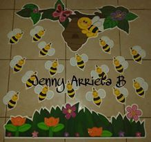 Colmenas de abejas en una rama vivero de arte de pared-Niños O Kid/'s Room Decor