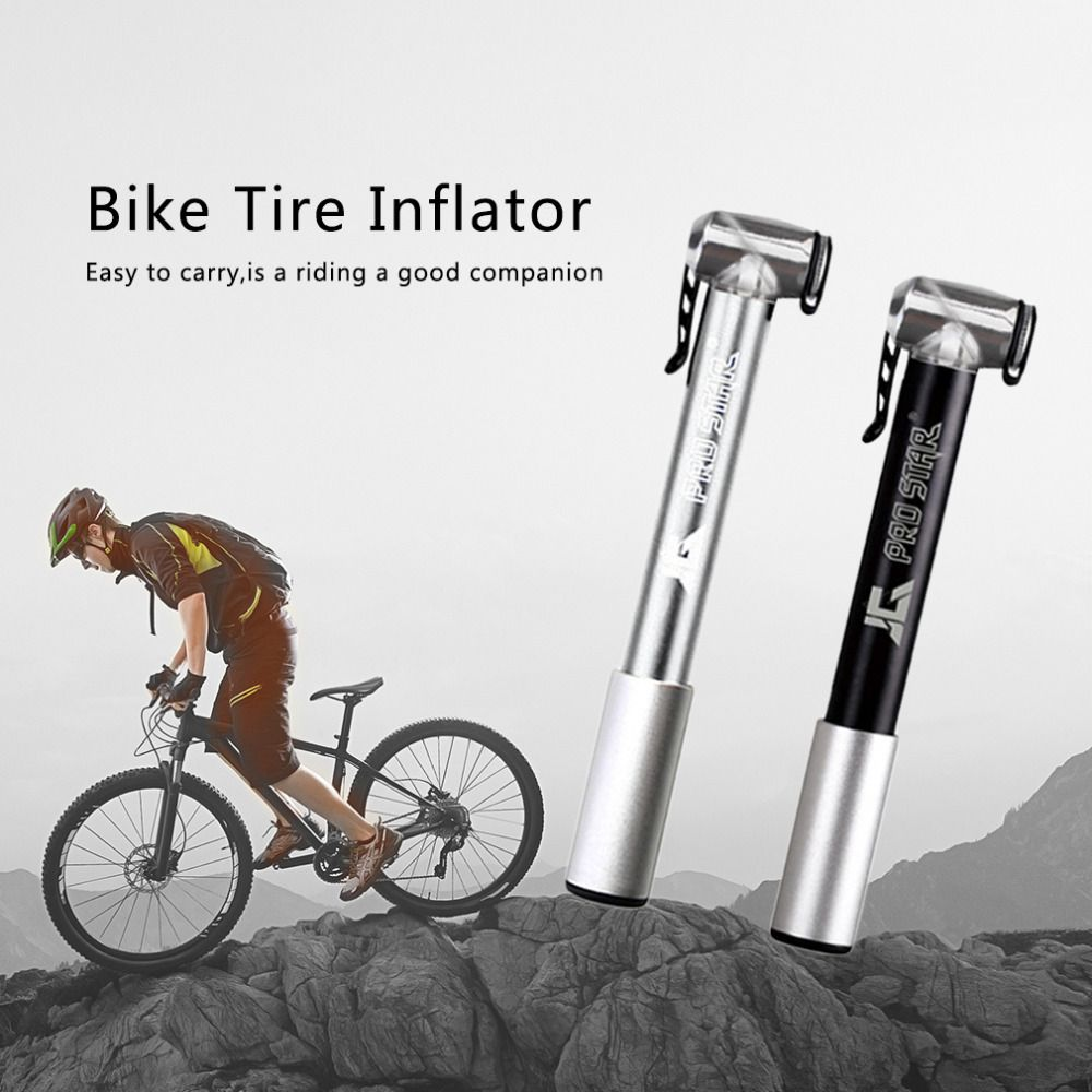 Pro Star Portable Bicycle Bike Pump High Pressure Inflator Mini