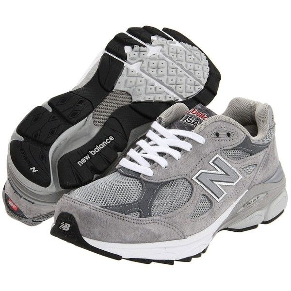 New Balance W990v3 (Grey) Women's Running Shoes (9.025 RUB) ❤ liked on