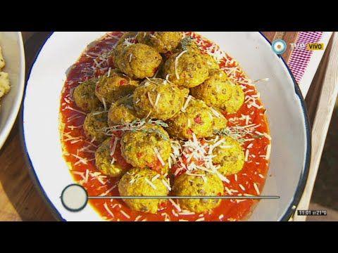 Albóndigas vegetarianas en salsa con puré mixto - Recetas – Cocineros Argentinos