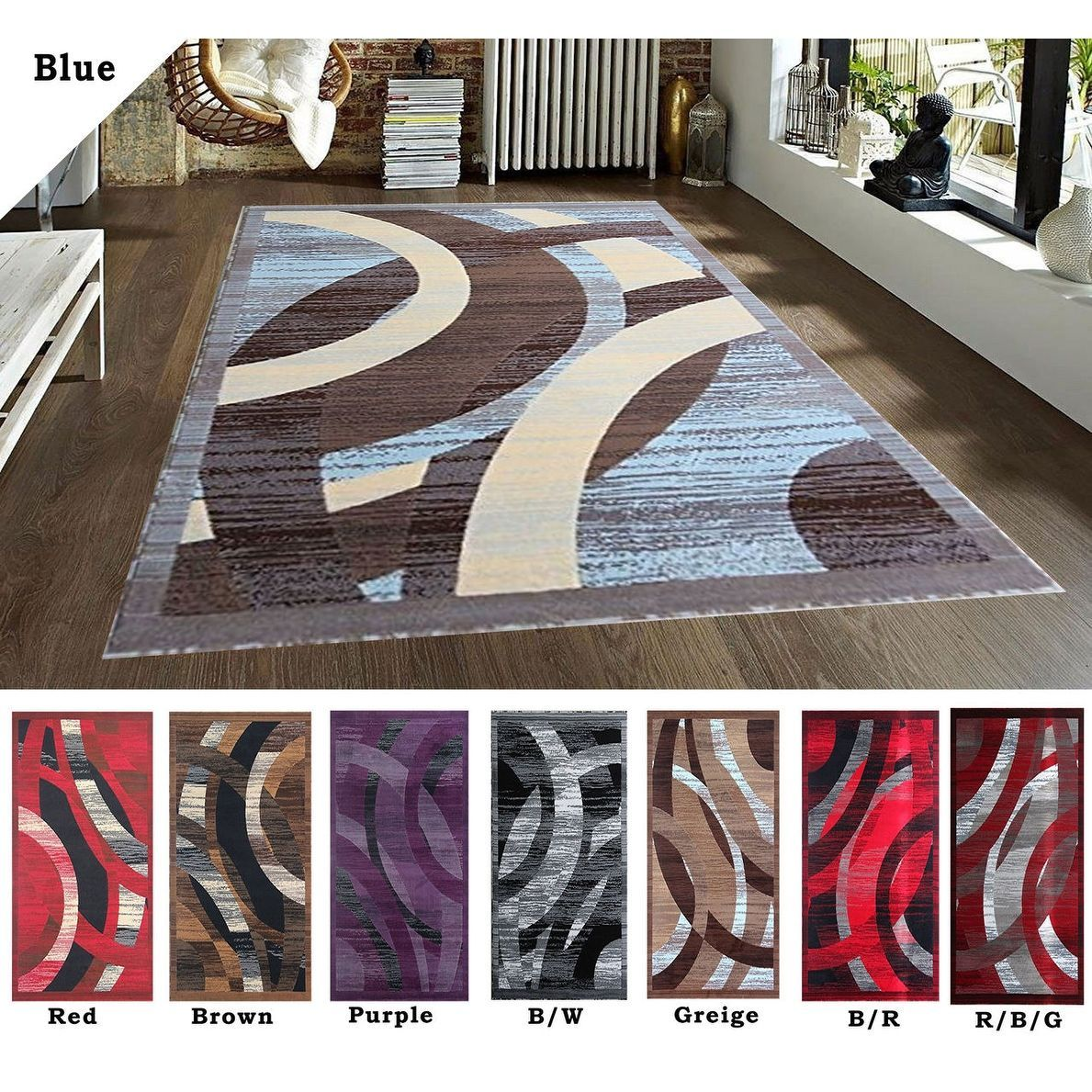 2x8 5x7 3 8x10 Rug Carpet Area Rug Blue Red Brown Purple Black White Greige Modern Contemporary Hand Carved Polyester