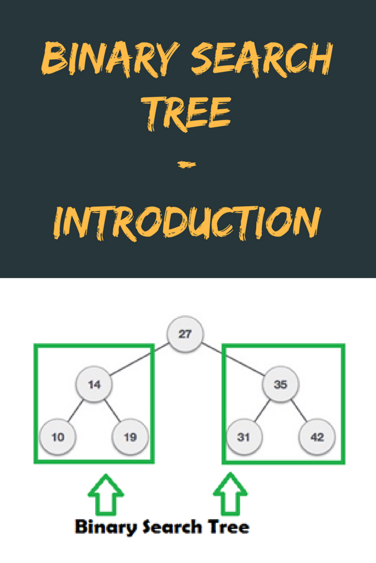 In this video there is introduction of binary search tree