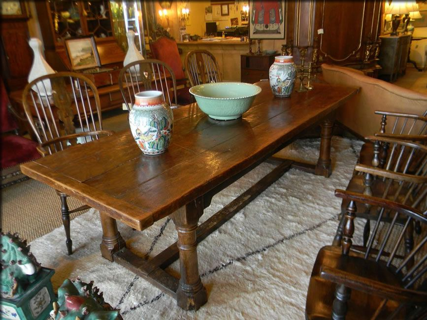 French Farm Table $5900 Tables — Plantation Antique Galleries