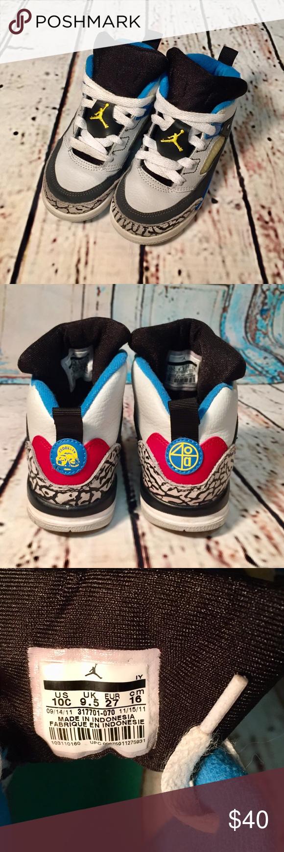 Nike Air Jordan Retro Brooklyn 40a sz: 10c Excellent Used Condition ...