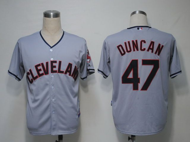 MLB Cleveland Indians 47 Duncan Grey Jerseys,cheap Mlb