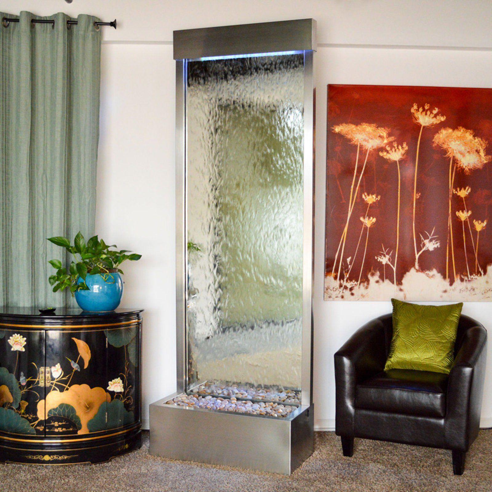Bluworld gardenfall 90 in indooroutdoor floor fountain