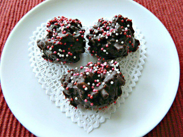 Valentine Chocolate Crispies