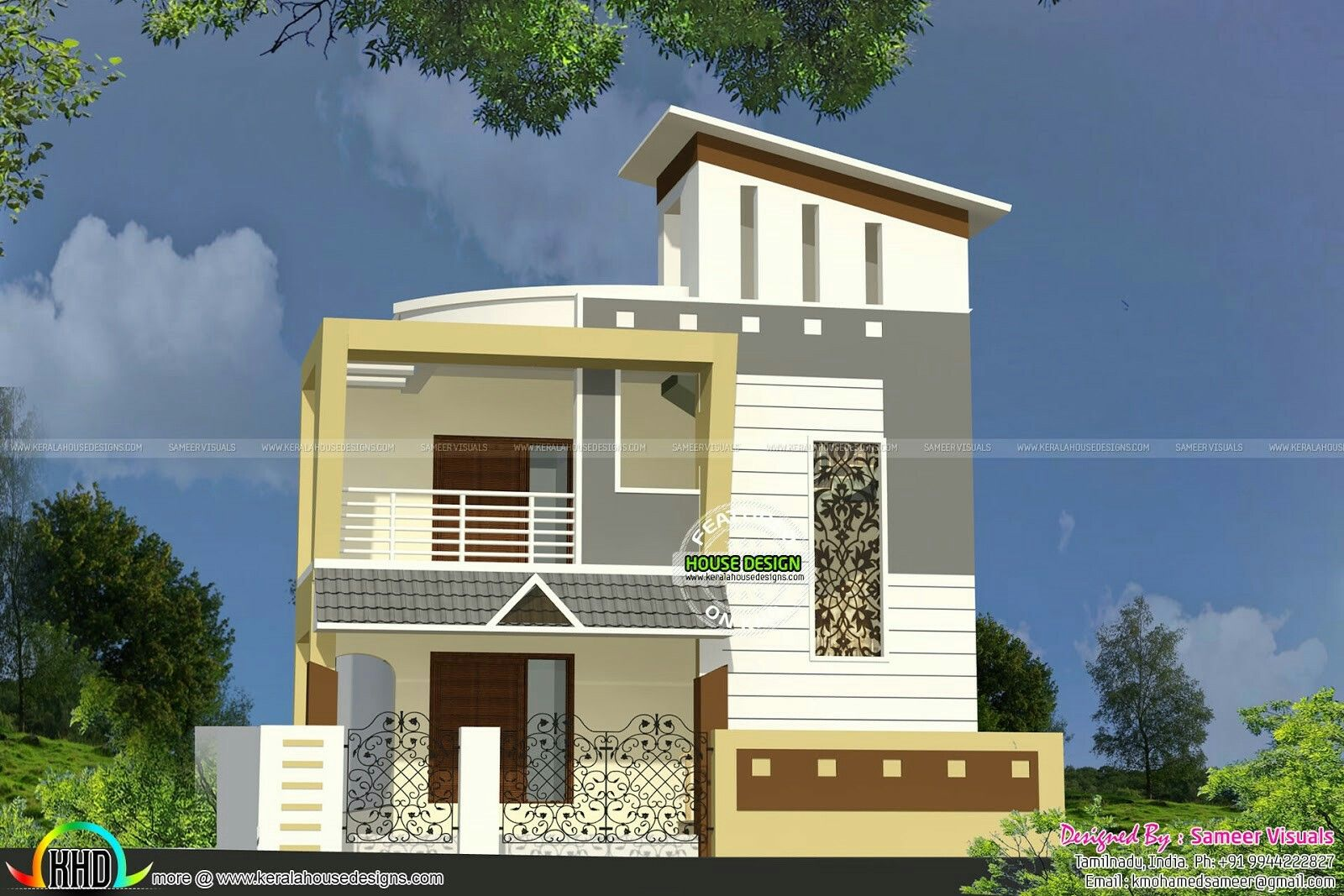 Pin By Azhar Masood On House Elevation Indian Compact House Front