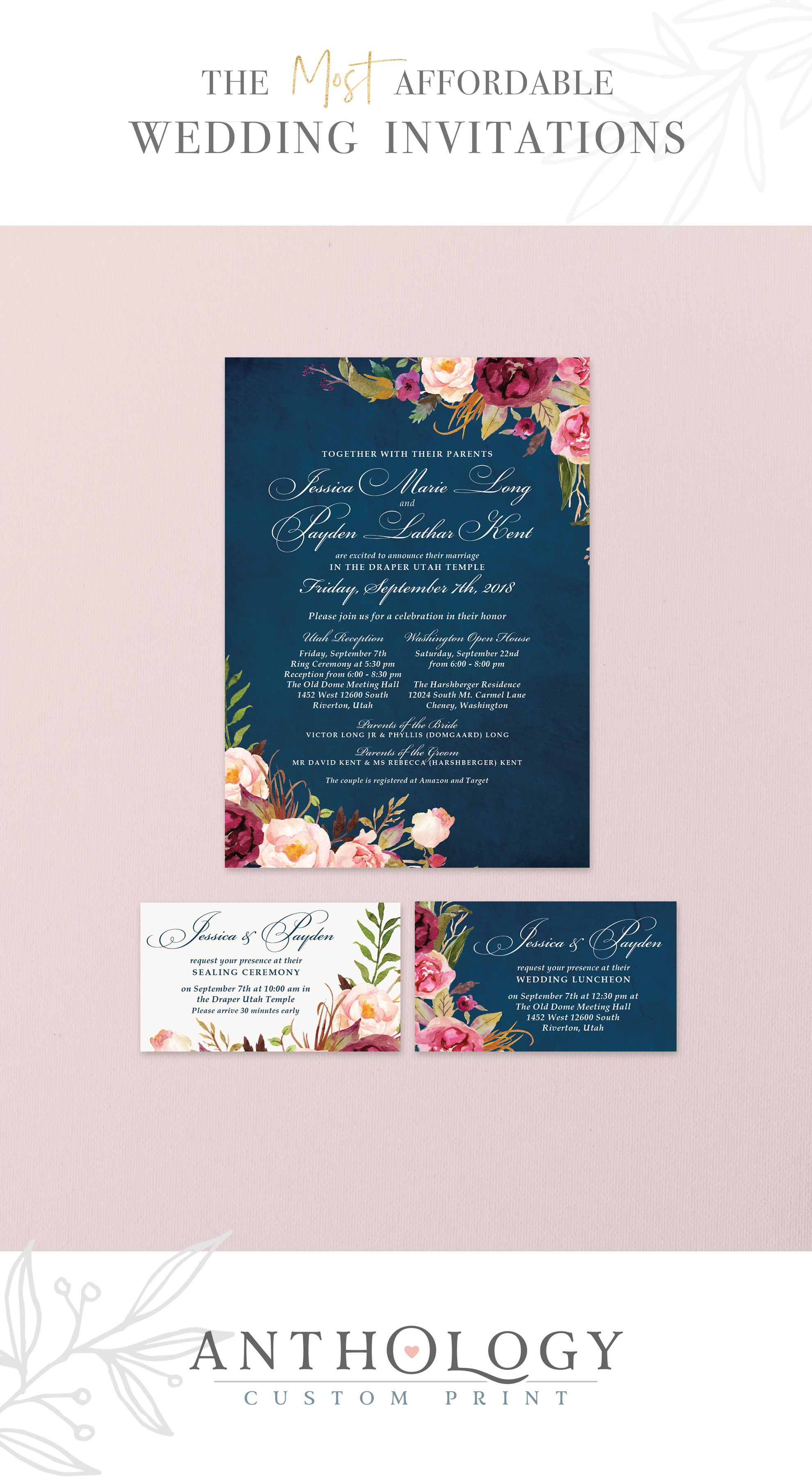 Watercolor Floral Wedding Invites Affordable Wedding Invitations Anthology Flower Wedding Invitation Fresh Wedding Flowers Affordable Wedding Invitations