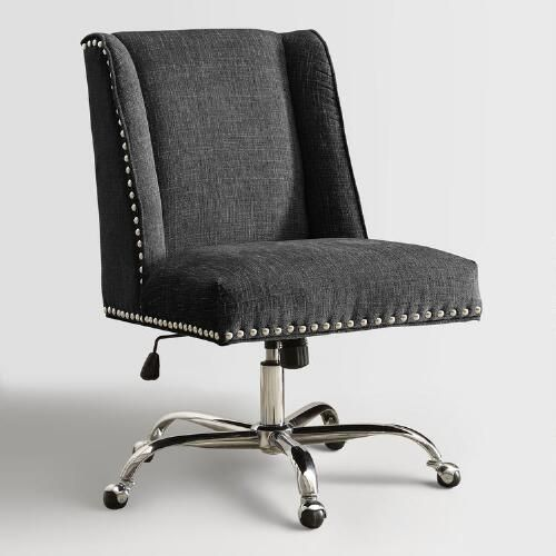 With An Adjustable Height Seat For Contoured Comfort Our Plush Chair Boasts A Classic Silhou Office Desk Chair Upholstered Office Chair Office Chair