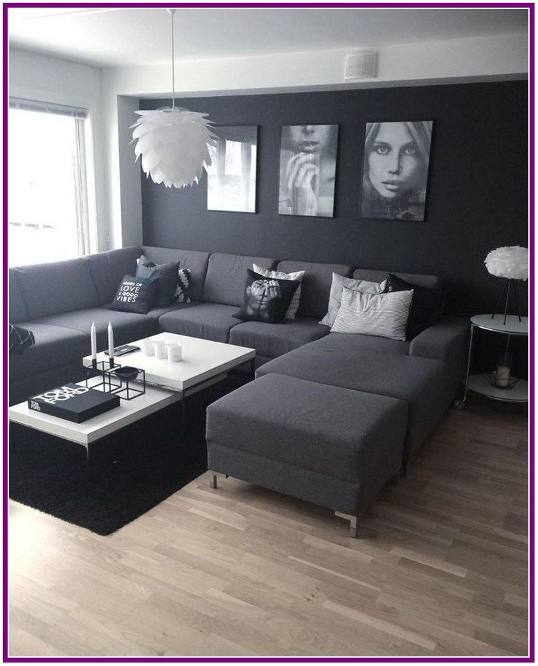 31+ grey small living room apartment designs to look ...