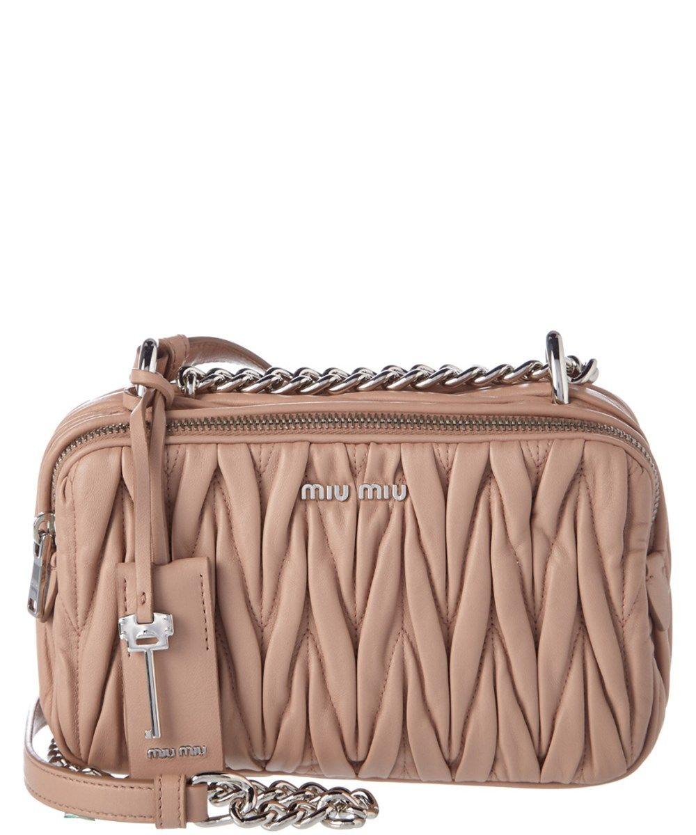 1b0241ba7902 MIU MIU Miu Miu Matelasse Leather Camera Bag Bag .  miumiu  bags  keychain   leather  lining  accessories  shoulder bags  hand bags