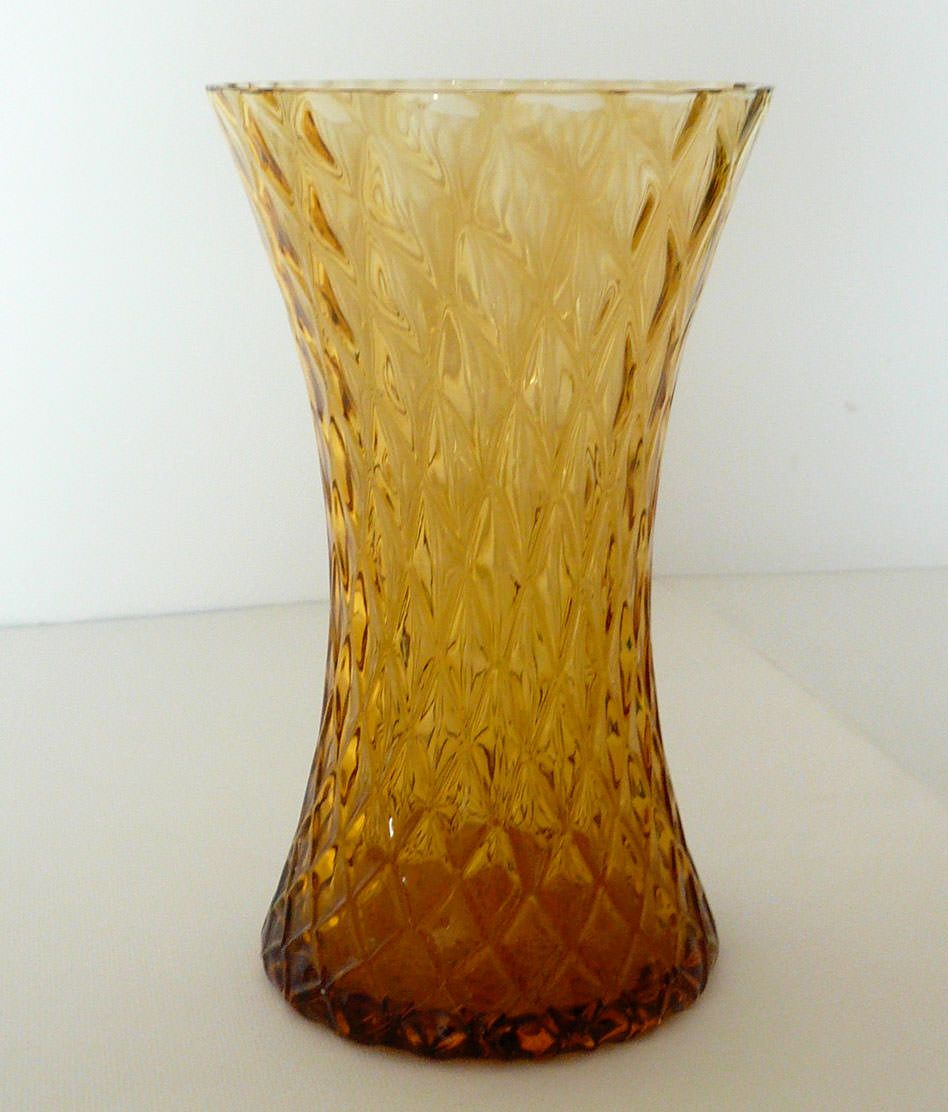 Vintage skylo amber glass vase canterbury living room vintage skylo amber glass vase reviewsmspy