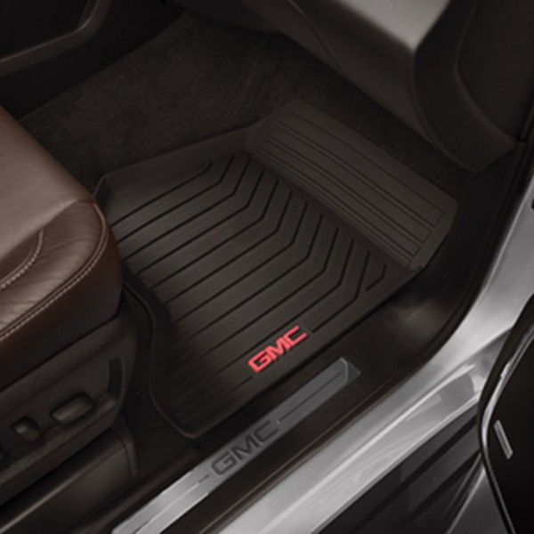 Yukon Denali Floor Mats Front Set All Weather Cocoa These Front Premium All Weather Floor Mats Feature Yukon Denali Volkswagen Touareg Chevy Tahoe Interior