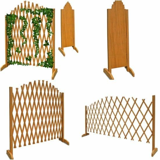 Wooden Garden Fence Panels Outdoor Patio Fencing Folding Plants Flower  Trellis