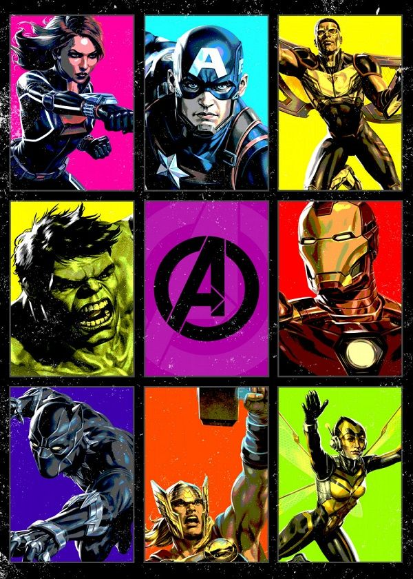 Marvel 80th Anniversary The Avengers Displate Posters
