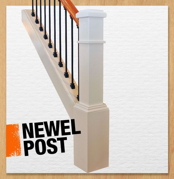 A newel post supports a stair banister and usually anchors the ...