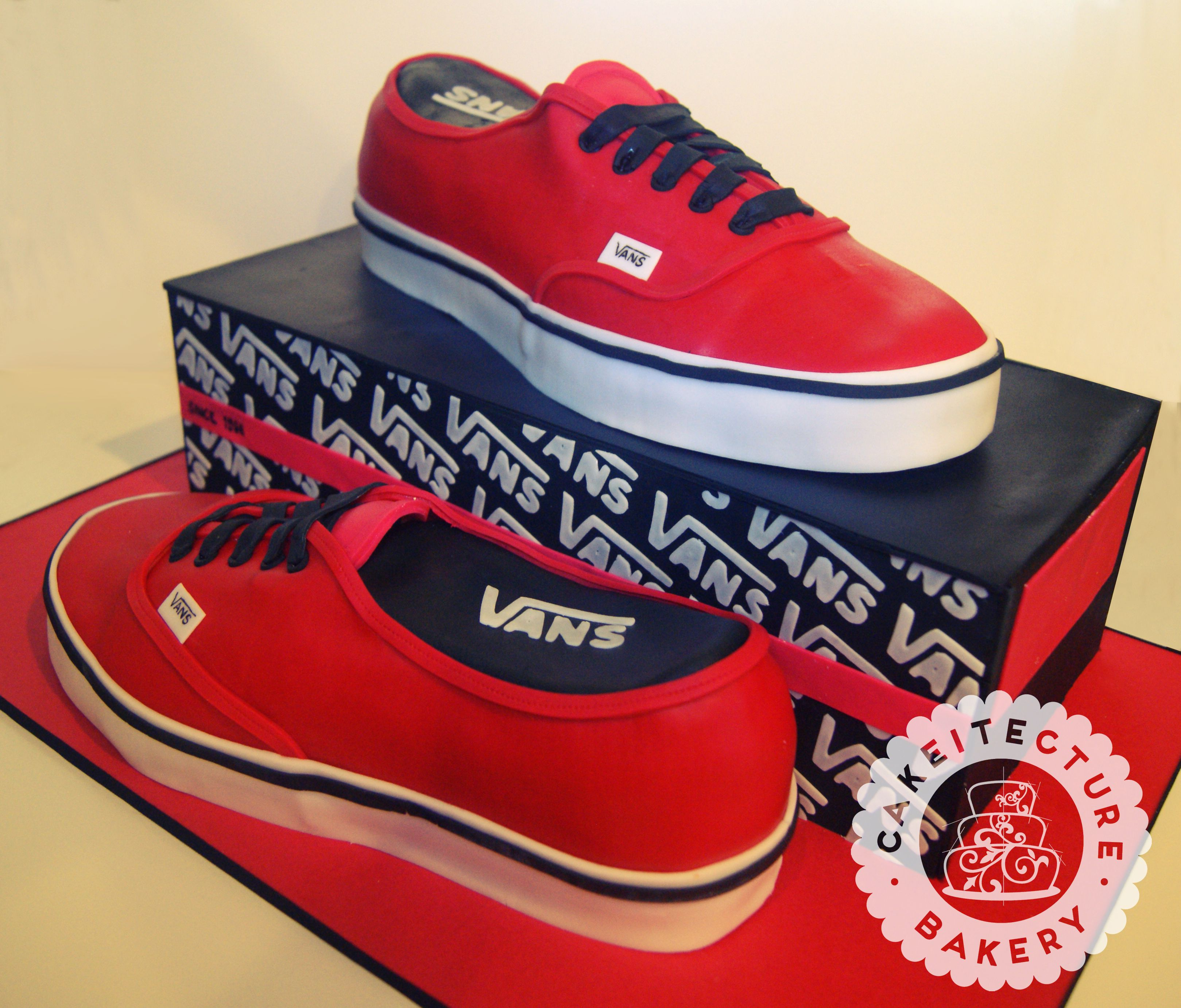 Vans Shoe Cake Cakeitecture Sculpted Cakes Shoe Cakes