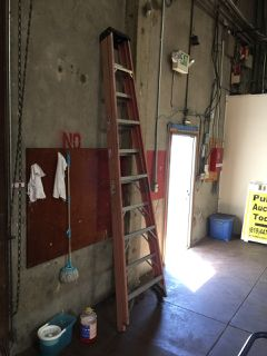 Werner A Frame 10 Foot Fiberglass Ladder Ladder Warehouse Equipment Fiberglass