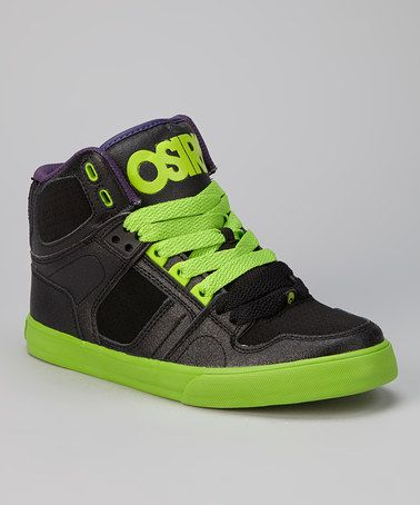 5aeeabf780 Take a look at this Black & Green NYC 83 Vulc Hi-Top Sneaker - Kids by  Osiris Shoes on #zulily today!