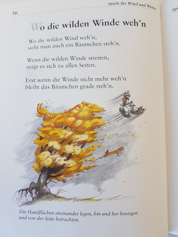 Wo die wilden Winde wehn #fingerspiel #krippe #kita #kindergarten ...