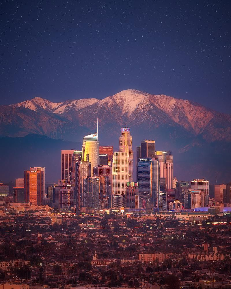 Downtown Los Angeles With Mt Baldy In The Background 800x1000 Los Angeles California Photography Los Angeles Skyline Los Angeles Wallpaper