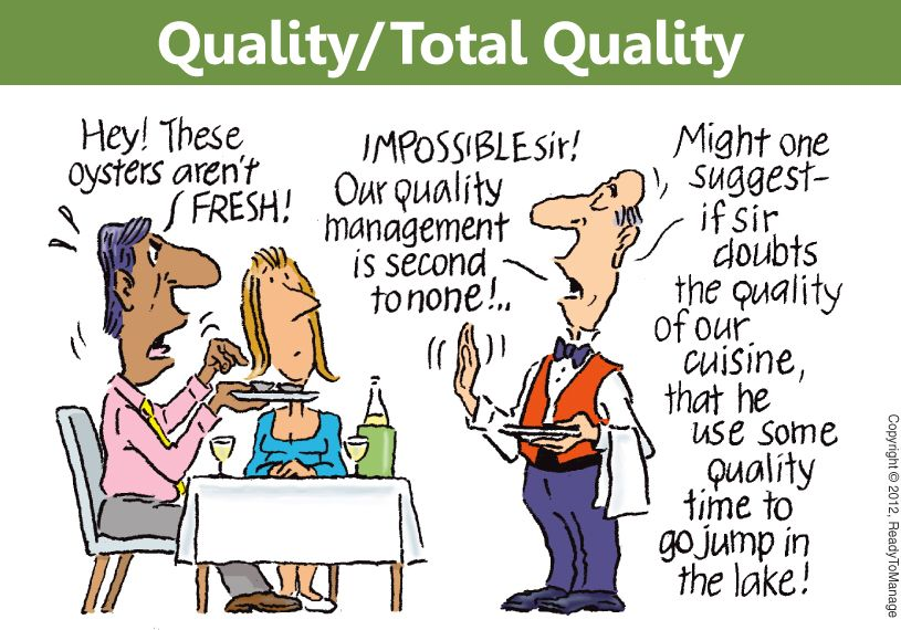 Total Quality Management Cartoon Total Quality