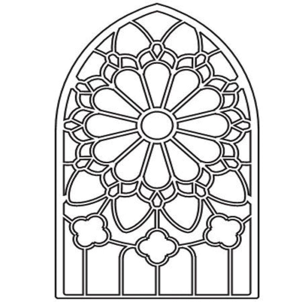 Stained glass coloring pages for Window design colour